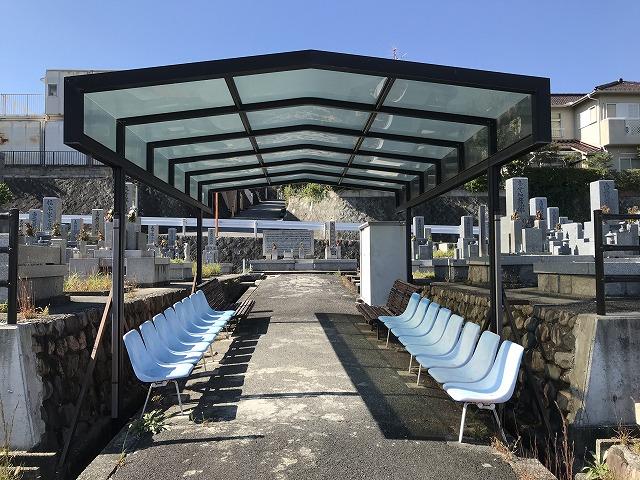 蔵人共同墓地(宝塚市)の休憩所