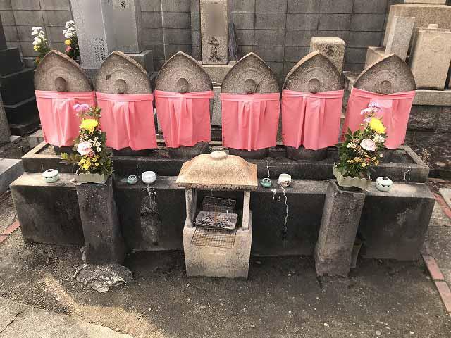 安立南霊園(大阪市住之江区)の六地蔵さん