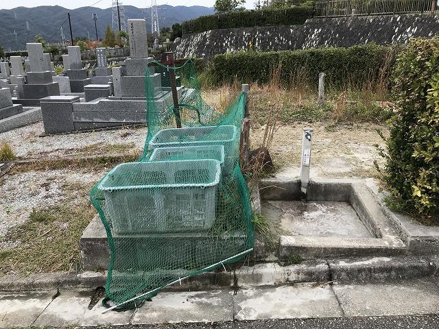 宝塚市営長尾山霊園の水場