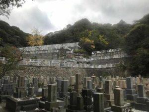 神戸市営追谷墓園(神戸市中央区)のお墓の様子