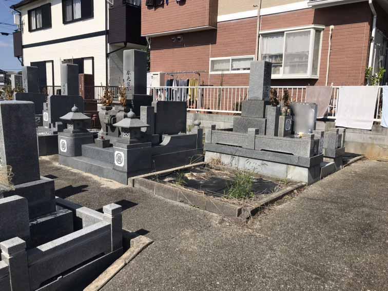 松陰堂ノ前墓地の墓地の様子