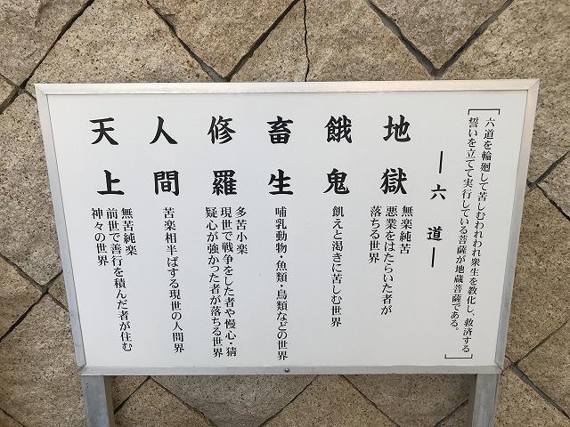 鹿塩村・東蔵人村共同墓地の六地蔵さん看板