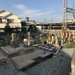 鹿塩村・東蔵人村共同墓地のお墓の様子