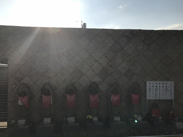 鹿塩村・東蔵人村共同墓地の六地蔵さん