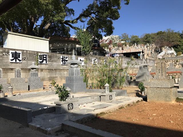 東明桜ヶ丘霊苑のお墓の様子