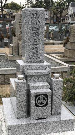 稲葉荘共同墓地でお墓を建立させていただきました(林様)