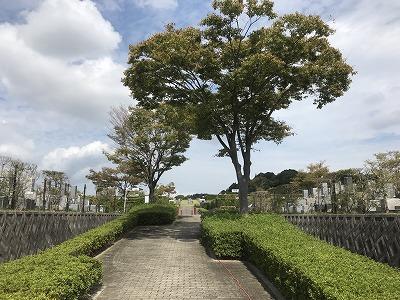 西神墓園で墓石の彫刻