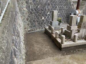 追谷墓園(神戸市中央区)での墓じまい工事後