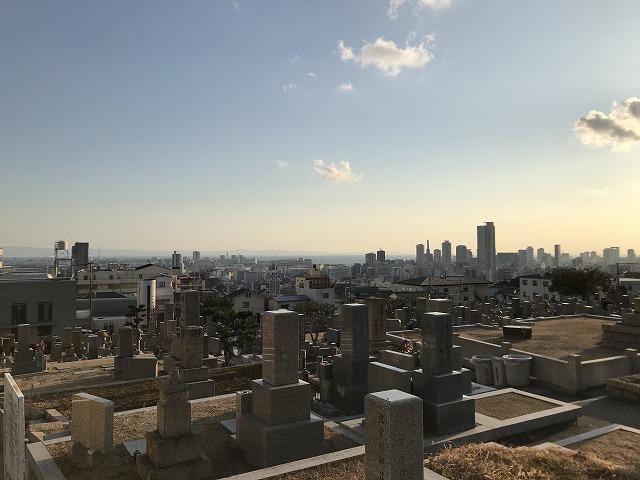 春日野墓地(神戸市中央区)の夕焼け 21.1.18