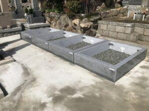 神戸市中央区の労災病院すぐの春日野墓地の新区画。21.3.29