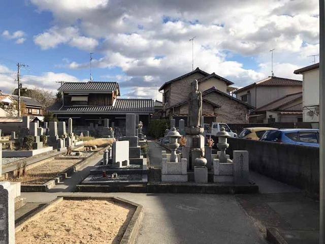 木村墓地(加古川市)の墓地の様子