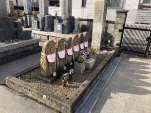 木村墓地(加古川市)の六地蔵さん
