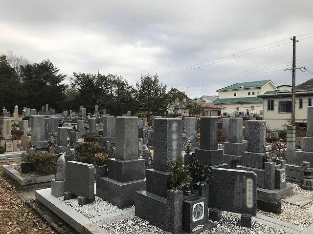 切畑墓苑(神戸市北区)の墓地の様子