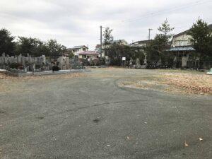 切畑墓苑(神戸市北区)の駐車場