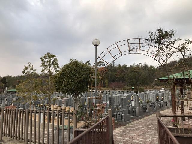 光明寺墓地公園(神戸市北区)の墓地の様子