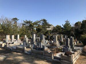 神戸市立舞子墓園で納骨式のお手伝いでした。2021年1月30日