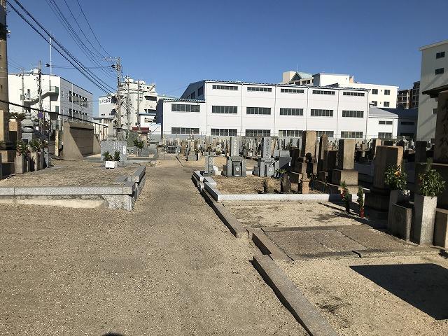 (神戸市兵庫区)高松墓地の墓地の様子