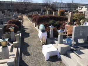 弥生ヶ丘墓園(尼崎市)で納骨式のお手伝い(21.2.22)