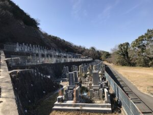 飛龍寺霊園(神戸市須磨区)の墓地の様子