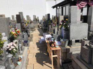 常光寺共同墓地でご納骨式でした。21.3.7