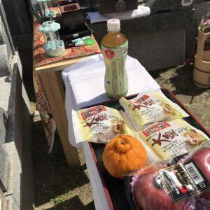 永代供養も出来る願成寺さん(神戸市兵庫区)で納骨式のお手伝い。21.3.27