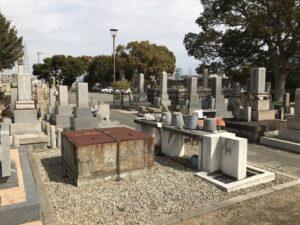 西畑墓地(高砂市)で納骨式。21.2.28