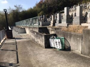 勝明寺墓地(神戸市西区)のゴミ箱
