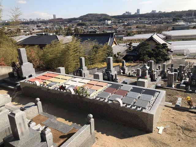 勝明寺墓地(神戸市西区)の墓地の様子
