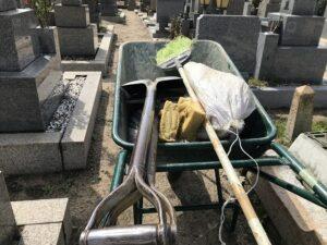 21.3.29_兵庫区の高松墓地でお墓じまいの工事でした。