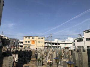 高松墓地(神戸市兵庫区)にお墓の確認に来ました。21.3.27