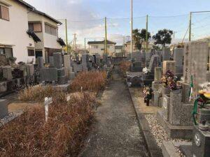 山川墓地(明石市)の墓地の様子