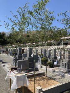 城ヶ丘墓地公園(三田市)で墓石建立前の地鎮祭でした。