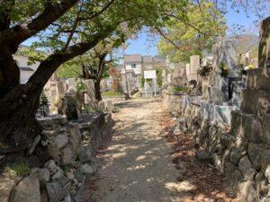 21.4.11_小林墓地(神戸市東灘区)にてお客様と打ち合わせでした。