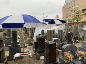 21.4.17_雨の中善通寺さん(尼崎市)で納骨式でした。