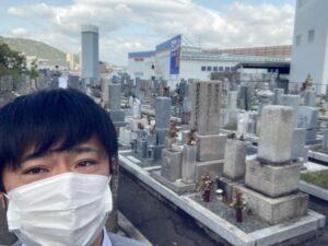 21.4.18_宝塚市安倉霊園へ来ました!! 朝の風気持ちいぃ〜