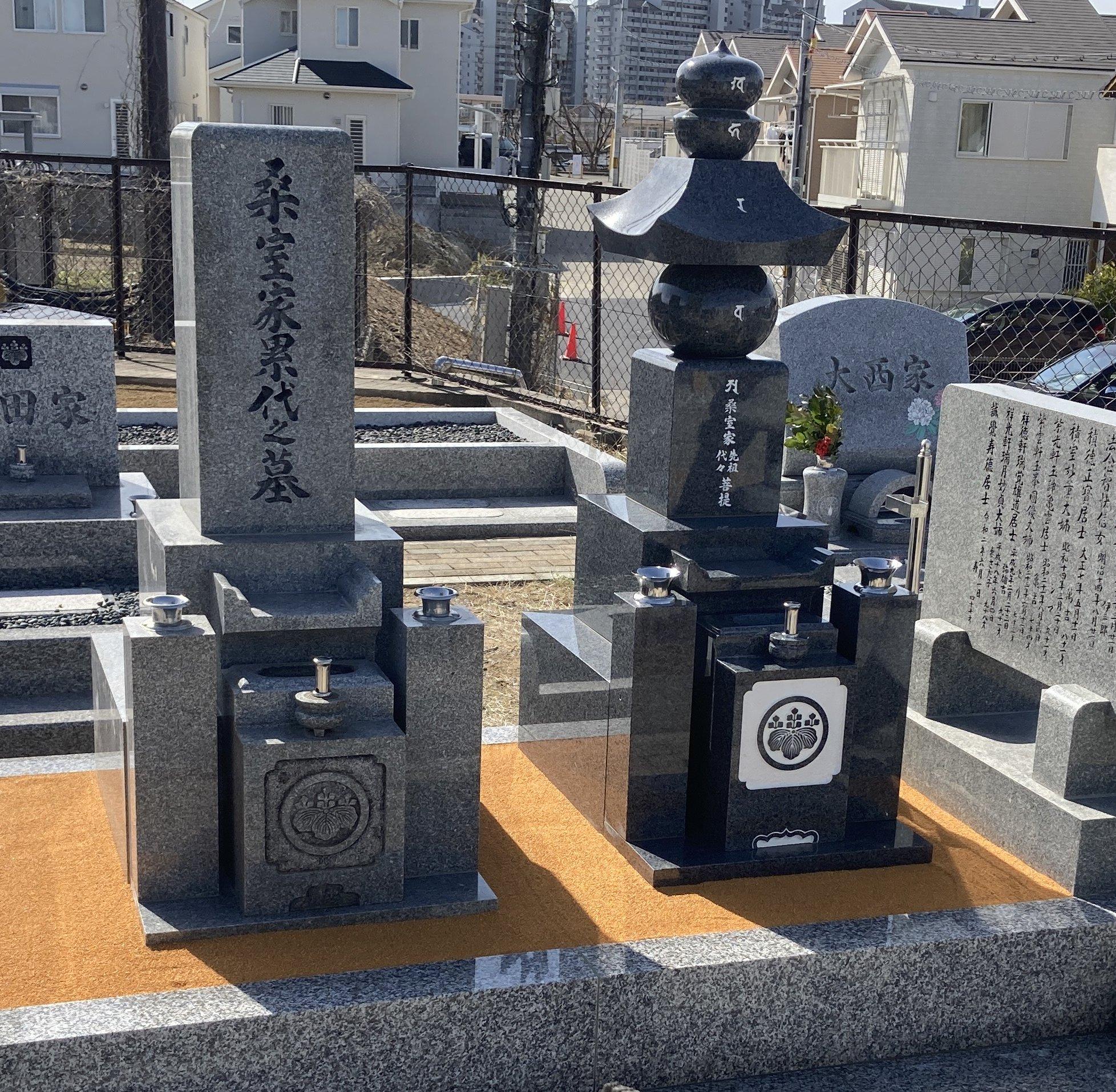 丸岡上墓地でお墓を建立させていただきました(桑室様)