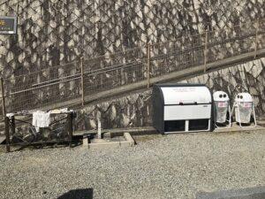 大林寺霊苑(宝塚市)の水場とゴミ置き場
