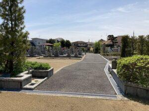 平井墓地(宝塚市)の墓地の様子