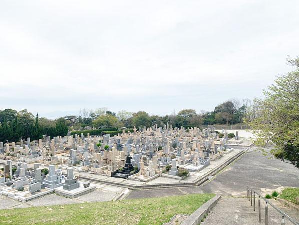 鵯越墓園のあおき地区へのアクセス