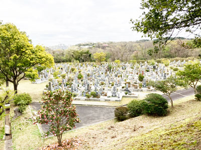 鵯越墓園のあせび地区へのアクセス