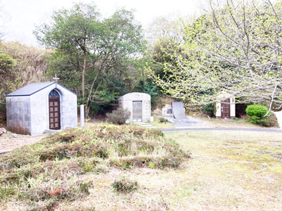 鵯越墓園の堂塔地区へのアクセス