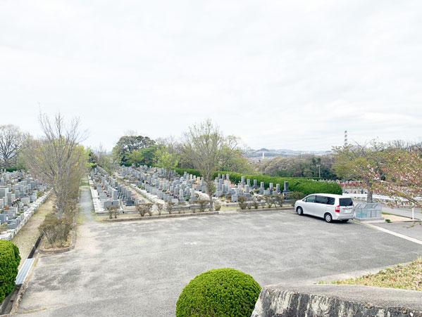 鵯越墓園のかえで地区へのアクセス