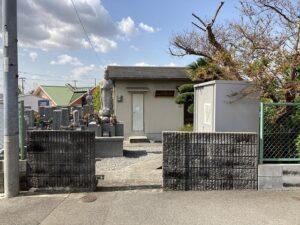 地蔵寺墓地(宝塚市)入口