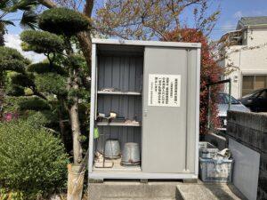 地蔵寺墓地(宝塚市)の用具置き場