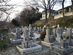 小浜共同墓地(宝塚市)の墓地の様子