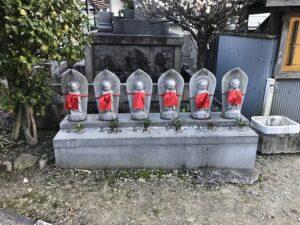 小浜共同墓地(宝塚市)の六地蔵さん