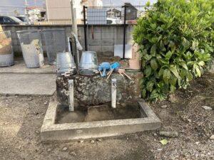 中筋墓地(宝塚市)の水場