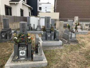 大窪墓地(明石市)の墓地の様子