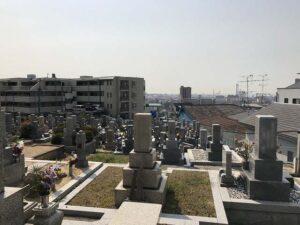 神戸大学南、桜ヶ丘善光寺裏にある高羽墓地(神戸市灘区)