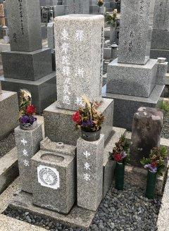 加納川田墓地で文字の彫刻をさせていただきました(中東様)